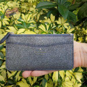 Blue Lola Large Slim Card Holder Dusk Navy Glitter